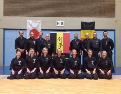 Tamiya Ryu seminar with Patrik Demuynck sensei, Louvain La Neuve, 08/2018