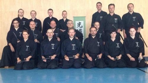 Iaido seminar with Patrik Demuynck sensei, Kosice 08/2015