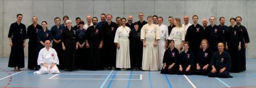 Jodo seminar with Hayashi sensei, Magglingen 09/2014